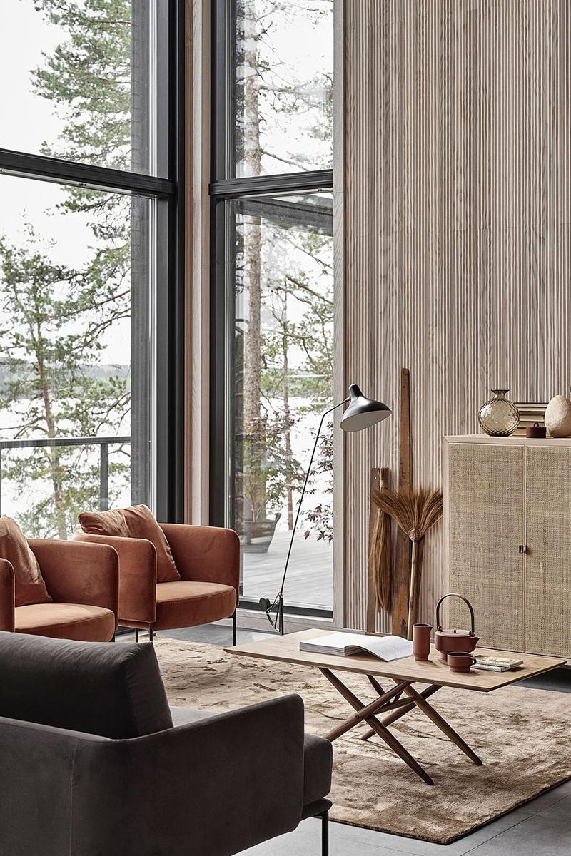Grey Rustic Living Room