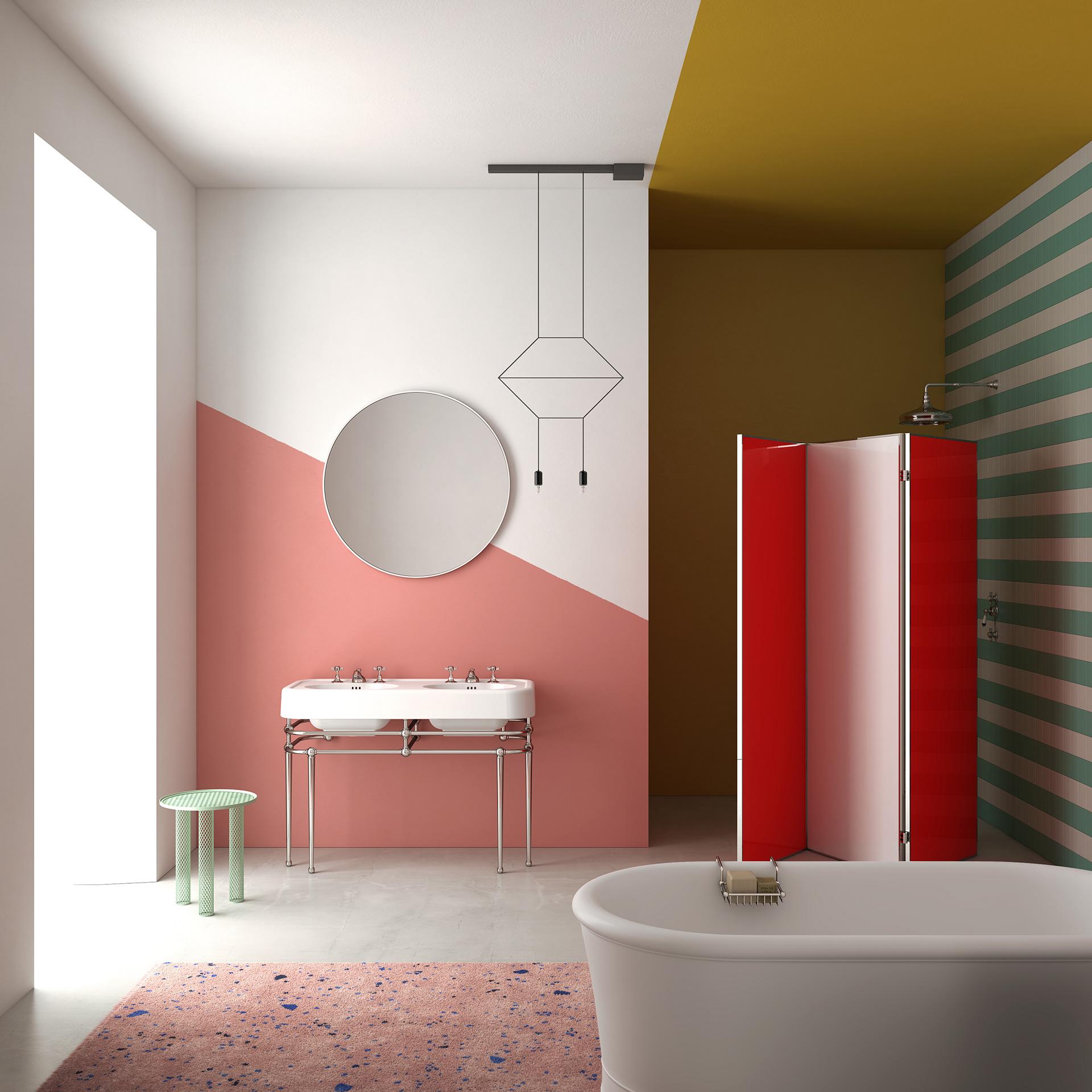 Fashion Meets Interior Design Color block
