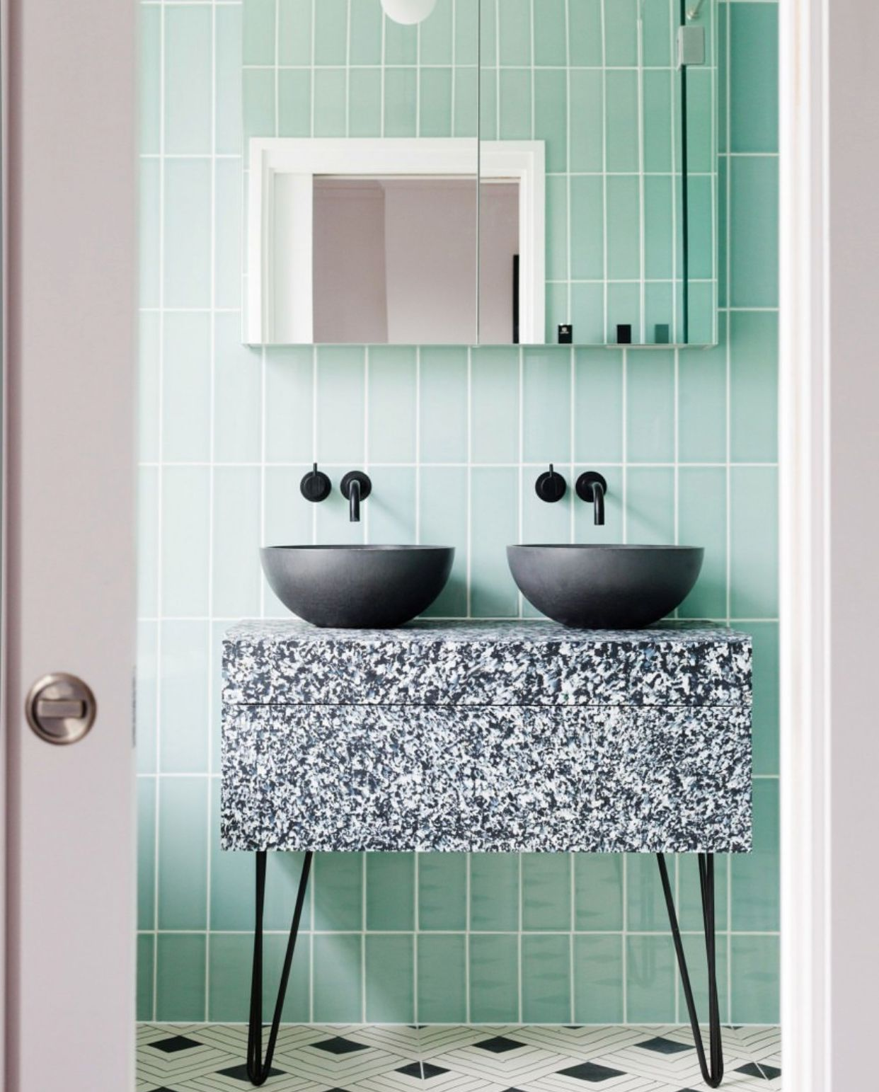 Colorful Bathroom Tiles Are Coming Back