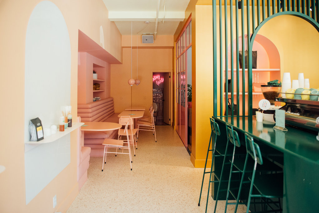 Color Blocked Interiors Of Pastel Rita Caf 233 By Appareil