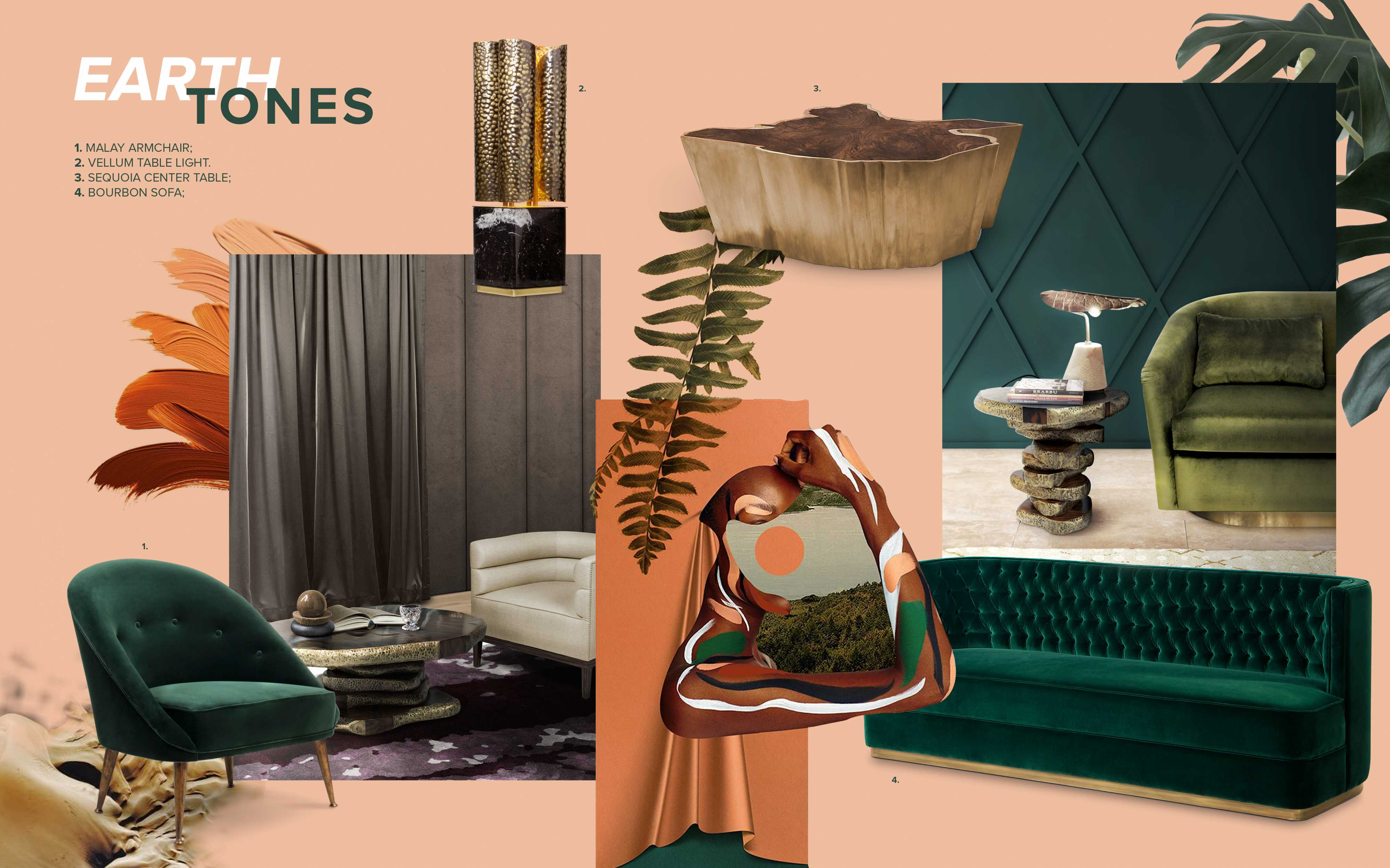 Moodboard Collection Earth Tones Interior Decor Trend For 2019 Trendbook Trend Forecasting