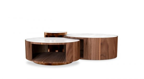 wood midcentury style center table
