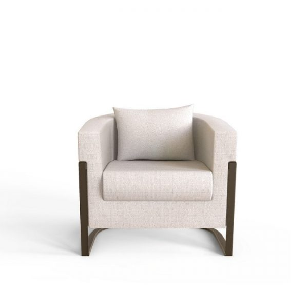 colombia armchair in white color